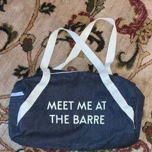 Meet Me at The Barre Gym/ Travel Duffle